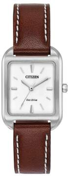 Citizen EM0490-08A Stainless Steel Silhouette Women's Eco-Drive Watch