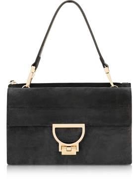 Coccinelle Black Suede Arlettis Shoulder Bag