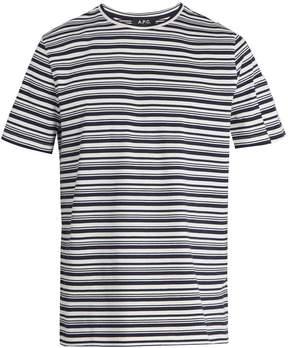 A.P.C. Striped cotton-jersey T-shirt