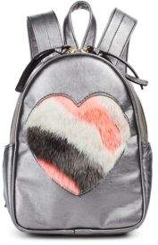 Imoga Backpack with Faux Fur Heart