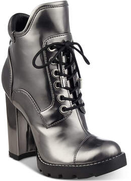 GUESS Women's Roxey Lace-Up Lug Booties Women's Shoes