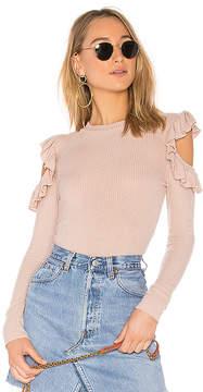 Tularosa Ruffle Cold Shoulder Sweater