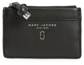 Marc Jacobs Women's Tied Up Leather Wallet - Black - BLACK - STYLE