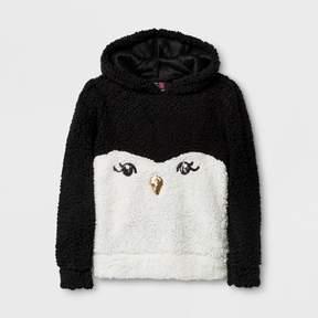 Miss Chievous Girls' Long Sleeve Sweatshirt - Black/White