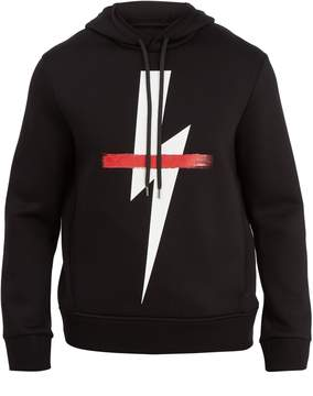 Neil Barrett Crossed-out bolt graphic hooded sweater