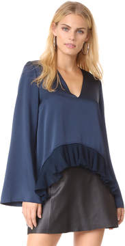 Elizabeth and James Heath Ruffle Hem Top