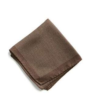Todd Snyder Wool Mini Dot Pocket Square in Brown Heather