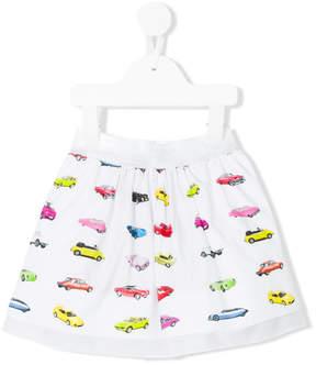 Simonetta car print full skirt