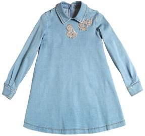 Ermanno Scervino Embellished Denim Dress
