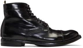 Officine Creative Black Anatomia 16 Boots