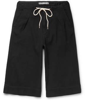 SASQUATCHfabrix. Sashiko-Stitched Cotton Shorts