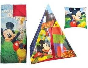 Disney Mickey Mouse Teepee Play Tent and Slumber Bag with Bonus Pillow