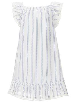 Rare Editions Little Girls 2T-6X Flutter-Sleeve Ruffle-Hem Striped Woven Dress
