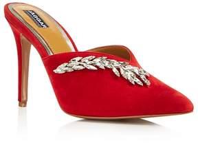 Jaggar Women's Myth Jeweled Suede High Heel Mules