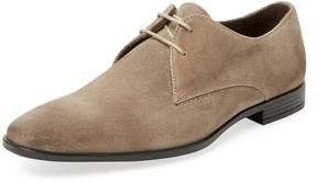 a. testoni Men's Old Suede Plain Toe Derby Shoe