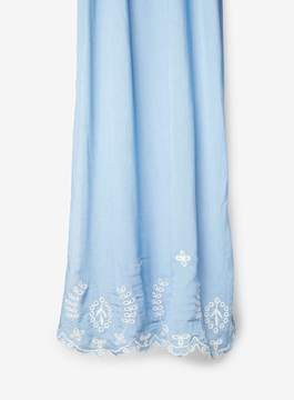 Dorothy Perkins Blue Embroidered Border Scarf