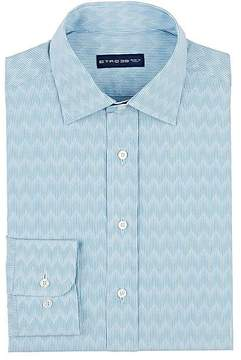 Etro Men's Wavy-Striped Cotton Shirt