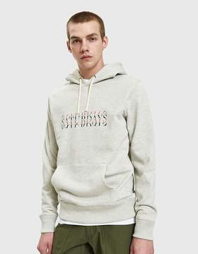 Saturdays NYC Ditch Strikethrough Hoodie in Natural Heather