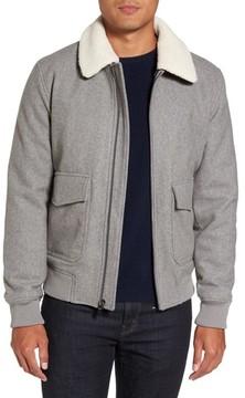 Michael Kors Men's Fleece Collar Wool Blend A-2 Jacket
