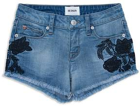 Hudson Girls' Floral Embroidered Denim Shorts - Big Kid