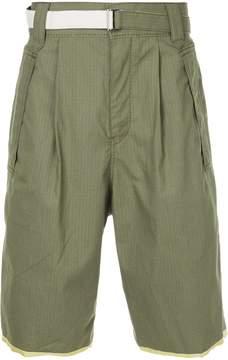 Sacai belted bermuda shorts
