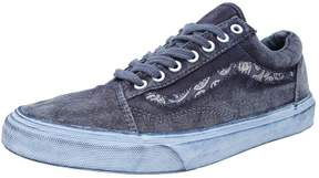 Vans Old Skool Reissue + Overwash Paisley Dress Blues Ankle-High Canvas Skateboarding Shoe - 8.5M / 7M