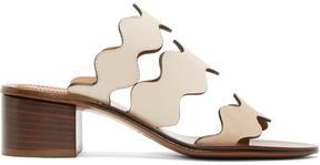 Chloé Ivory and Beige Lauren Heeled Sandals