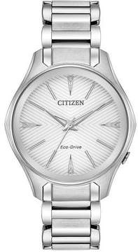 Citizen Modena Silver Dial Ladies Stainless Steel Watch EM0590-54A