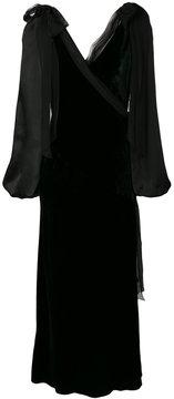 Alberta Ferretti v-neck wrap dress