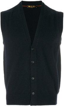 Loro Piana sleeveless cashmere cardigan