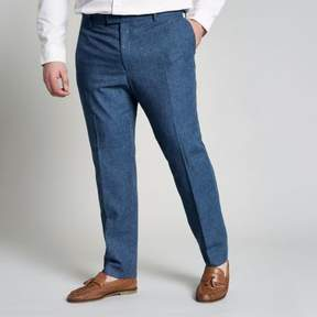 River Island Mens Big and Tall blue suit pants
