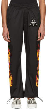 Palm Angels Black Palms and Flames Lounge Pants