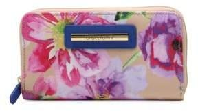 Braccialini Cristina Floral Zip-Around Wallet