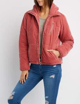 Charlotte Russe Velvet Puffy Jacket