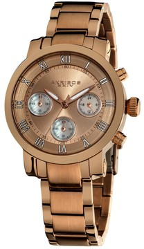Akribos XXIV Akribos Grandiose Chronograph Rose Dial Rose-tone Ladies Watch AK623RG