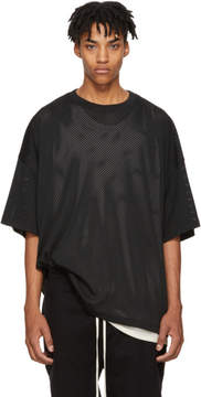 Fear Of God Black Mesh Oversized T-Shirt