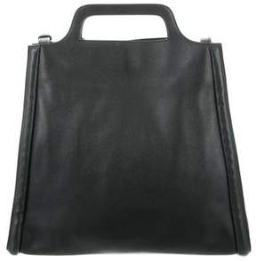 Delvaux Leather Structured Satchel