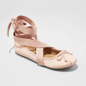 Mossimo Women's Maci Lace Up Wrap Ballet Flats