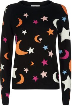 Chinti and Parker Midnight Sky Cashmere Sweater