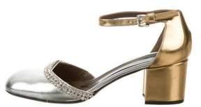 Marni Embellished Ankle-Strap Pumps