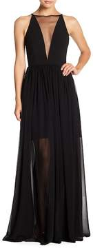 Dress the Population Patricia Mesh Inset Dress