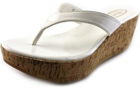 Callisto Beachie Women Open Toe Synthetic White Wedge Sandal.