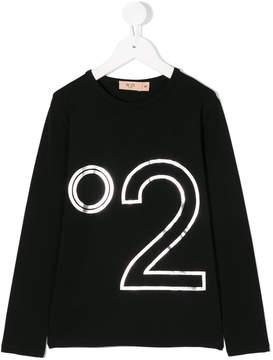 No.21 Kids logo print top