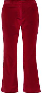 Altuzarra Nettle Cropped Velvet Flared Pants - Burgundy