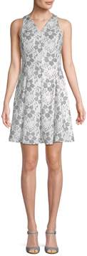 Donna Ricco Women's Floral Fit-And-Flare Dress