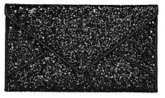 Tory Burch Glitter Envelope Pouch - BLACK GLITTER - STYLE