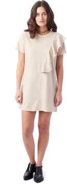 Alternative Apparel NYTT Julia Ruffle Detail Shirt Dress