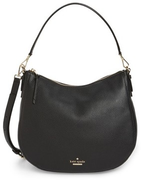 Kate Spade Jackson Street Mylie Leather Hobo - Black - BLACK - STYLE