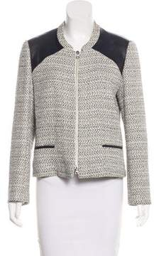 Barneys New York Barney's New York Leather-Accented Tweed Jacket