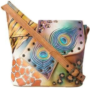 Anuschka Women's Genuine Leather Shoulder Bag | Hand Painted Original Artwork | Flap Bag Magnetic Closure |